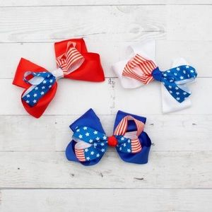 Other - NWT! Patriotic Big Boutique Hair Bow - 3 Styles